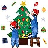 outgeek Filz Weihnachtsbaum, 3.2ft DIY Weihnachtsbaum Mit Ornamente Wand Dekor Mit Seil Für Kinder Home Tür Wand Dekoration