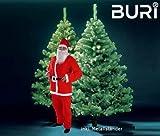 Buri Weihnachtsbaum 180cm inklusive Weihnachtsmannkostüm Tannenbaum Nikolaus