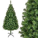HOMFA 180cm Künstlicher Weihnachtsbaum Tannenbaum Christbaum 850 Spitzen mit Metallständer grün Weihnachtsdeko (Tannenbaum 180cm)