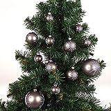 Buri Weihnachtsbaum 180cm + 24er-Set Weihnachtsbaumkugeln Christbaumkugeln Deko