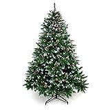 Yorbay Weihnachtsbaum Tannenbaum mit Ständer 120cm-240cm für Weihnachten-Dekoration (Weihnachtsbaum mit Schnee, 180cm)