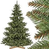FairyTrees Weihnachtsbaum künstlich NORDMANNTANNE, grüner Stamm, Material PVC, inkl. Holzständer, 220cm