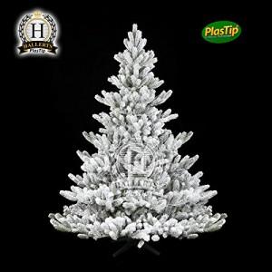 Weihnachtsbaum Künstlich Nordmanntanne.Hallerts Künstliche Nordmanntanne Alnwick Mit Schnee
